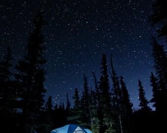 Night Photography | Print | Wall Art | Photograph | Star Gazing | Photography | 'Sleeping Under the Stars'