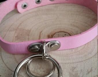 Pink Double circle choker