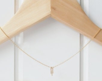 Dainty Gold Fringe Necklace by The Statement House, Gold Layering Necklace
