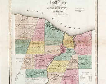 Monroe County NY, Monroe County, Monroe NY, Monroe County NY Map, Monroe Ny Map, Monroe Ny County, Ny County Map, Monroe County Map, Old Map