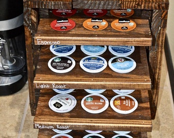 Rustic K-Cup Storage Cabinet (Holds up to 60 K-Cups)