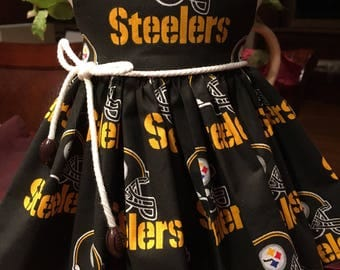 NFL Pittsburgh Steelers dress fits 18 inch dolls including American Girl Doll