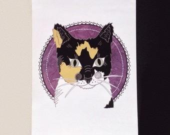 Custom A4 digital pet portrait illustration, pet art, dog portrait, cat illustration, pet drawing, digital pet portrait, pet gift