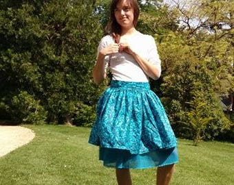 Lolita - blue butterflies - inspired skirt handmade