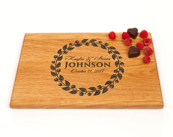 Wedding Cutting Board, Personalized Gift Cutting Board, Gift for Couple board, Custom Wedding Gift, Housewarming Gift, Anniversary Gift