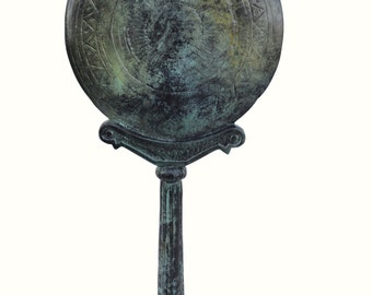 Bronze aged Ancient Greek Mirror column replica artifact