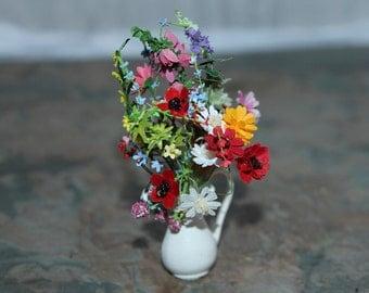 Hand Made Dolls House 1/12th Scale Wild Flower Arangement
