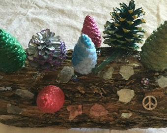 Pine Cone Art unique one of a kind