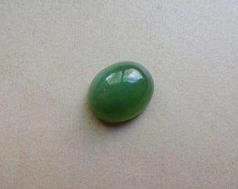 Green Serpentine cabochon 11x9mm