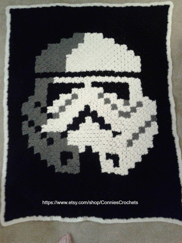 Digital Unique Star Wars Stormtrooper C2c Blanket Graph