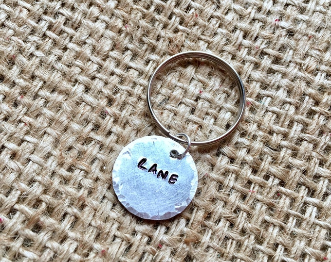 Custom Name Keychain, Custom Keychain, Stamped Keychain, Stamped Key Ring, Stocking Stuffer, Custom Name Key Ring, Personalized Gifts,