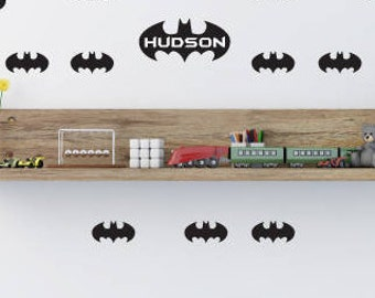 Personalised Batman shape wall sticker