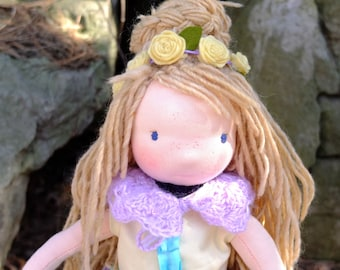 Aoife 14 inch Waldorf style doll