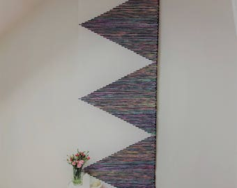 wise fiber company, boho headboard, large woven wall hanging, macrame wall hanging, wandkleed, textile headboard, tissage mural, wedding