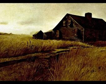 "Andrew Wyeth, Andrew Wyeth Print, American Art, American Artist, Americana, Wyeth Print, Wyeth Art, Pennsylvania Artist, ""East Waldoboro"""