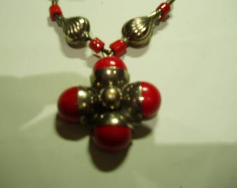 North-African Moroccan Silver Tribal Necklace