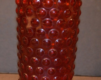 1960s Red Knobby Glass