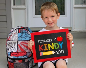 First day of Kindy Sign, Back to school printable, School Printable Sign, First day of school, Kindy School, Starting Kindy