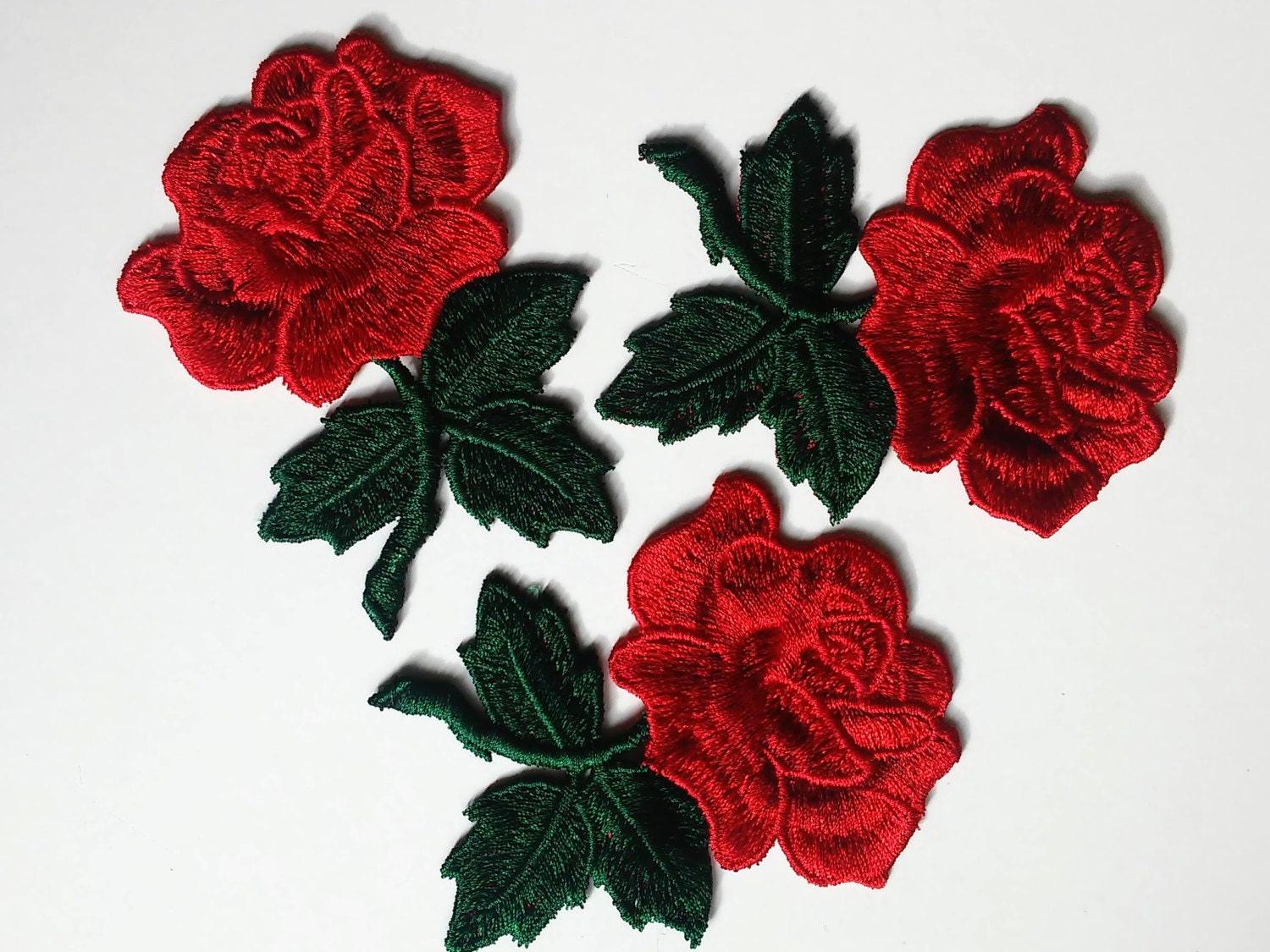 Flower patch sew on rose applique