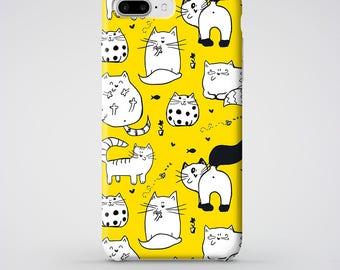 Cute Cat iPhone 6 Case, Kitten iPhone 6 Plus 5S 5 SE Case with cute kittens, Animal iPhone 7 Plus Case, Kitten iPhone 7 Cover