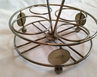Vintage Gold-tone Metal Caddy