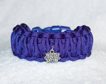 World's Greatest Mom, Mother Bracelet, Gift for Mom, New Mom, Mom Birthday, Paracord Bracelet, Best Mom Gift, Womens Bracelet, Purple Gifts