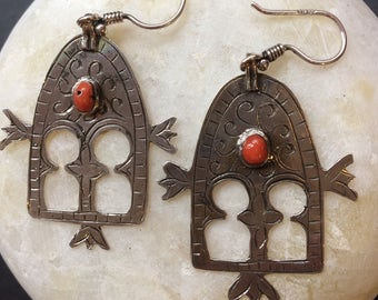 Tuareg design earrings - hamsa  - amulet - handmade in Cairo
