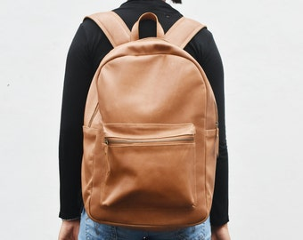 SOKOLA - Leather backpack, Leather bag, leather backpack unisex, backpack, leather bag women, laptop bag school, laptop college bag women