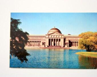 Museum of Science and Industry Jackson Park Lagoon /Chicago Postcard / Illinois Postcard / Rosenwald Museum Postcard