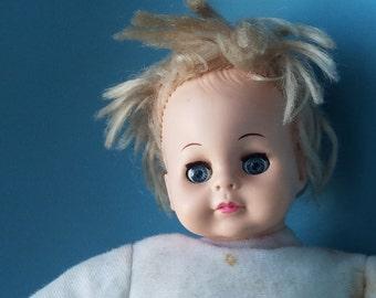 Vintage Playmates Doll; 1980; Soft Body; Sleepy eyes; Pink Lips; Blonde Hair