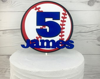 Baseball Cake Topper, Sports Cake Topper, Basketball Cake Topper, Soccer Cake Topper, Football Cake Topper, Boys Cake Topper