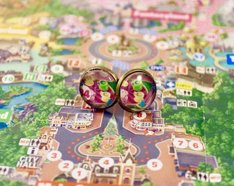 Upcycled Disneyland Map Earrings: The Mad Tea Party