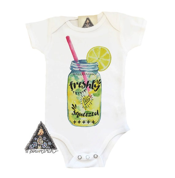 FRESHLY SQUEEZED Lemonade baby shirt Lemonade Lemon shirt