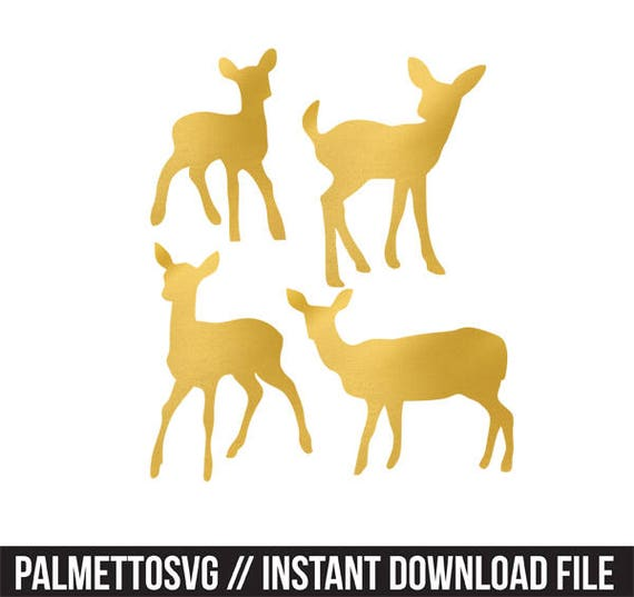 baby deer gold foil clip art png svg dxf file file silhouette