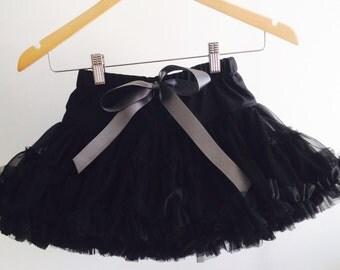Black skirt, pettiskirt, tutu, skirt, ruffles,size 3-6, girl, black pettiskirt, elegant, dance, party, photo prop, full, layered skirt,