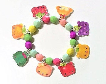 Num Noms Fruity Charm Bracelet, Num Noms Birthday Party Favors, Num Noms Bracelet