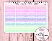 44 Pastel Australian Public Holiday Stickers P-41 - Perfect for Erin Condren Life Planners / Journals / Stickers.