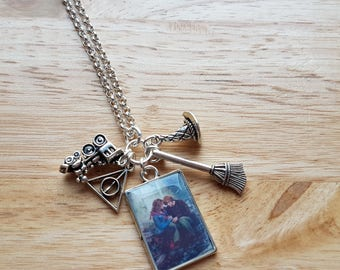Harry Potter, Hermione and Ron Weasley charm necklace
