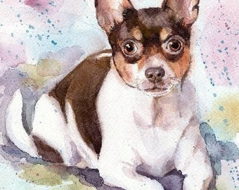 Custom Chihuahua Dog Illustration Pet Original Painting Dog Drawing Dog art Chihuahua painting