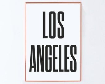 Los angeles, Graphic art, USA, Black White Art Typography Poster, california wall art, california Poster, california Print, california Art,