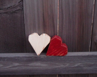 Set of 2 Chunky Hearts