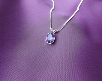 925 Sterling Silver and Amethyst Necklace