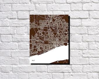 Hull, England Street Map Print Map of Hull Street Map Poster Hull Wall Art 7176P