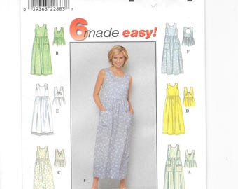 Simplicity 8657, Misses' Dress, Pullover Sleeveless Dress, Summer Dress, Sewing Pattern, Very Easy Pattern, Size H 6-8-10, Uncut, Petite
