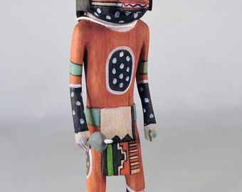 Traditional Mountain Lion Hopi Indian Kachina by Mike George