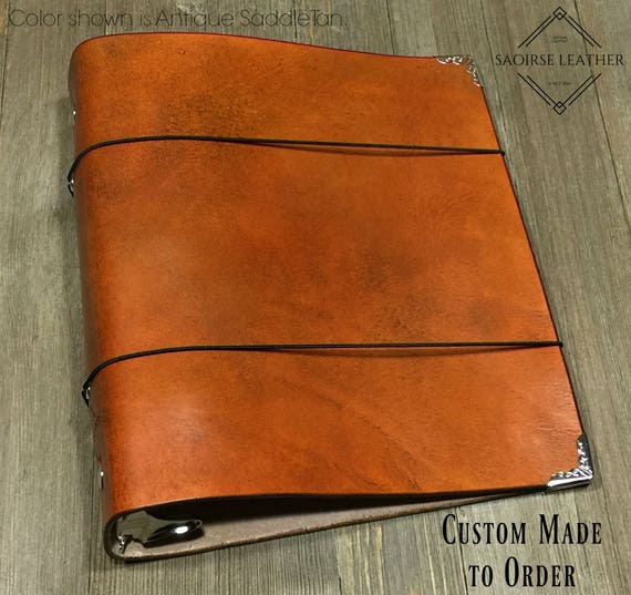 The Dolan Custom Leather 3 Ring Mini Binder