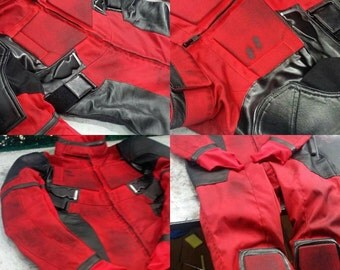 Weathered Deadpool Cosplay / Costume / Suit Movie Replica in Cordura & Leather