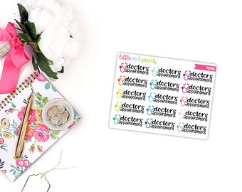 QUARTER SHEET - Doctors Appointment Planner Stickers for the Erin Condren Life Planner, Script Sticker, Script Planner Sticker - [P0456]