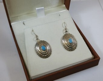 Earrings silver turquoise nostalgic SO211