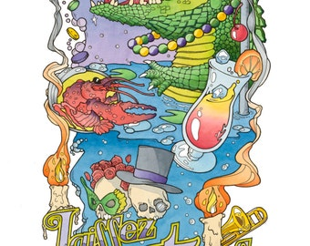 Mardi Gras Alligator (Signed and Numbered Limited Edition of 25)